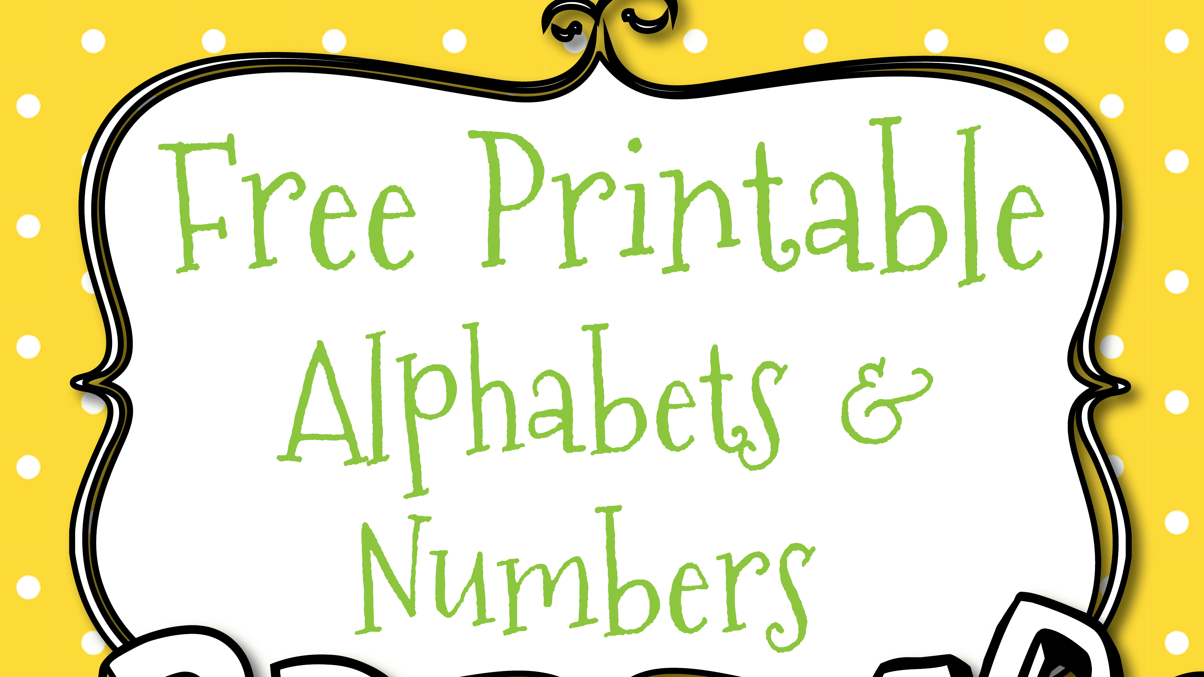 Free Printable Letters And Numbers For Crafts - Free Printable Bubble Numbers
