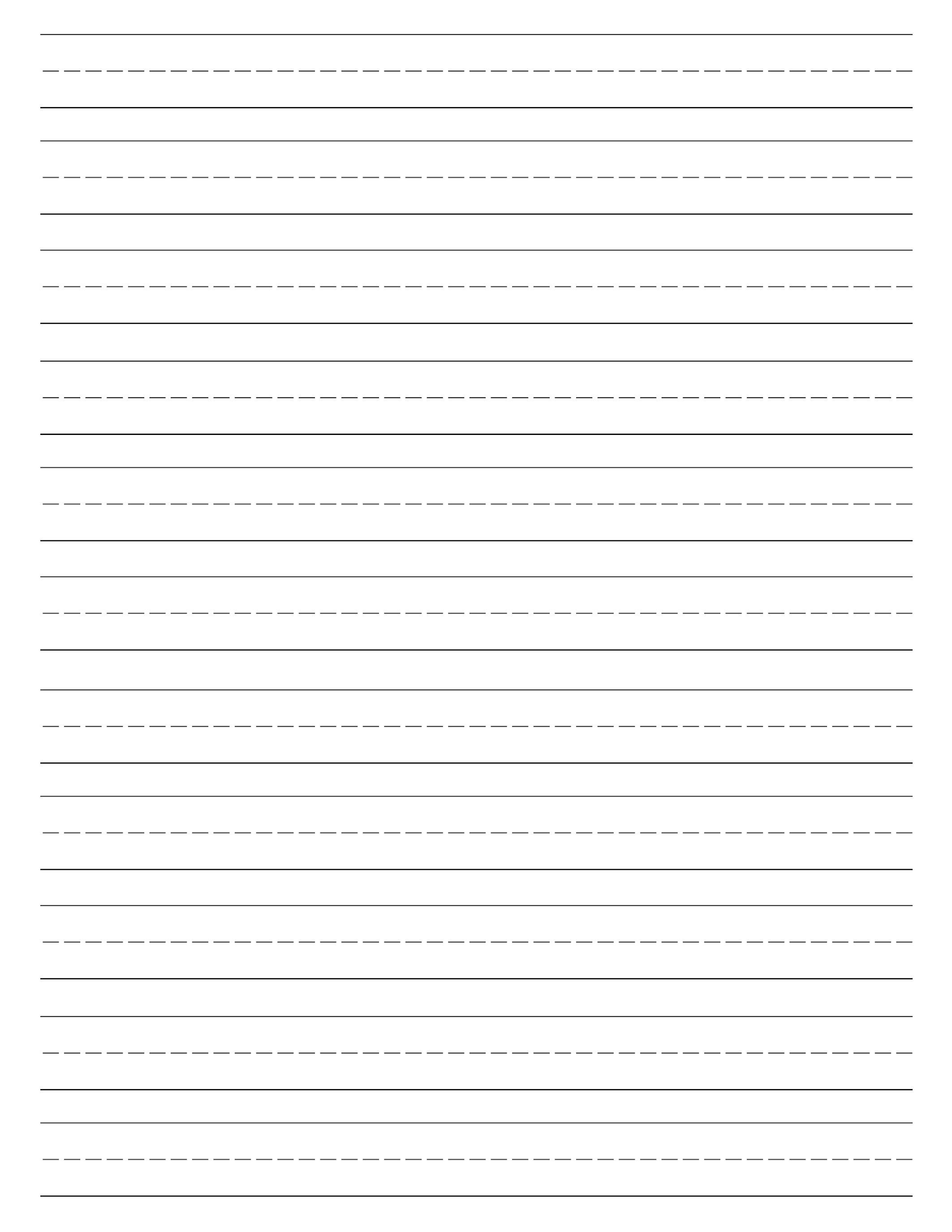 Free Printable Lined Paper {Handwriting Paper Template} | Preschool - Free Printable Lined Writing Paper