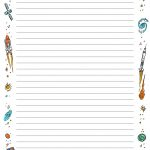 Free Printable Lined Paper With Borders | Writings And Essays Corner   Free Printable Border Paper