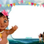 Free Printable Little Moana Birthday And Baby Shower | Moana   Free Printable Moana Invitations