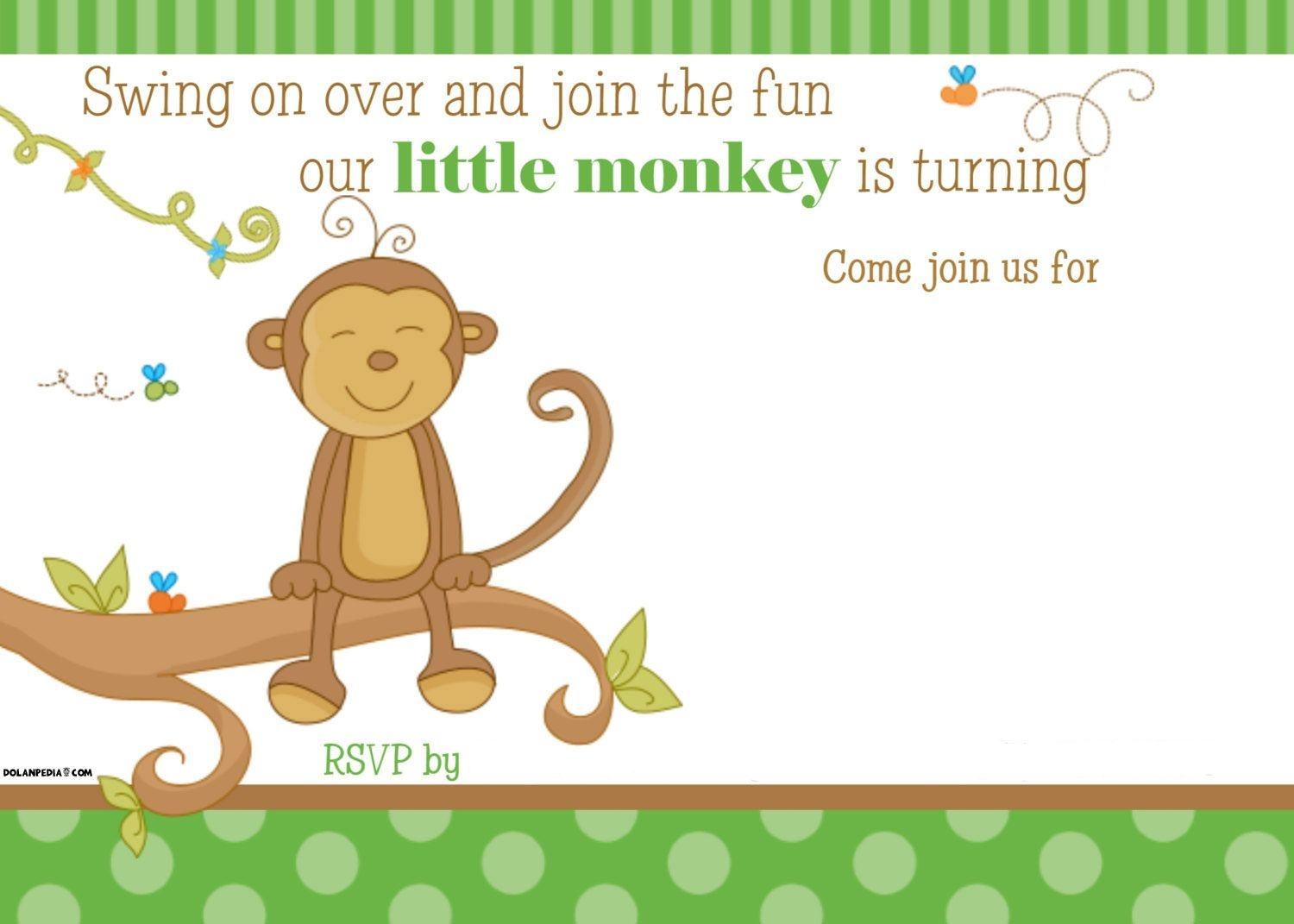 Free Printable Little Monkey Birthday Invitation | Free Printable - Free Printable Monkey Birthday Party Invitations