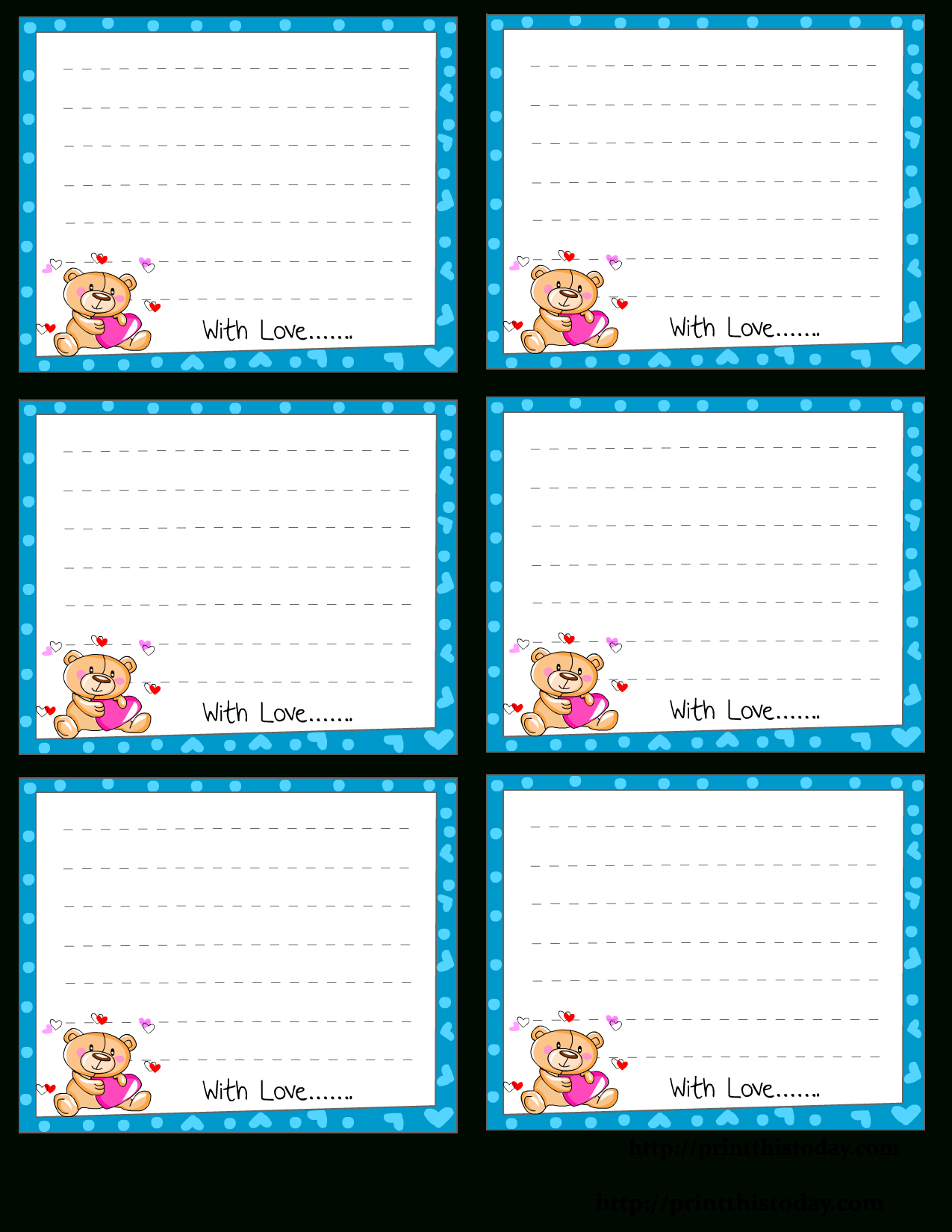 Free Printable Love Notes Stationery - Free Printable Winter Stationery