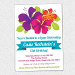 Free Printable Luau Birthday Invitations Templates | Elma In 2019   Hawaiian Party Invitations Free Printable
