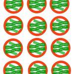 Free Printable Mason Jar Gift Labels   Merry Christmas & Happy New   Free Printable Mason Jar Labels
