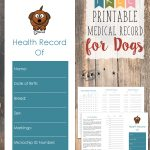 Free Printable Medical Record For Dogs | Craftiness | Whelping   Free Printable Dog Shot Records