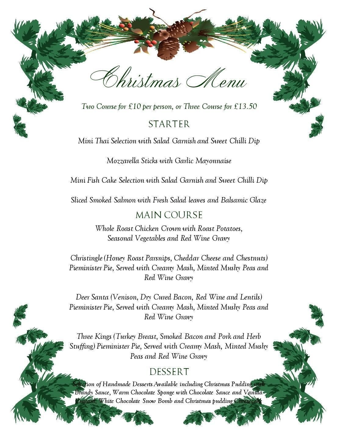 Free Printable Menu Templates Christmas Menu Templates Free Page Not - Menu Template Free Printable Word