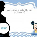 Free Printable Mickey Mouse Baby Shower Invitation Template | Baby   Free Baby Shower Invitation Maker Online Printable