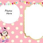 Free Printable Minnie Mouse 1St Invitation | Rebekah Ann | Minnie   Free Printable Polka Dot Birthday Party Invitations