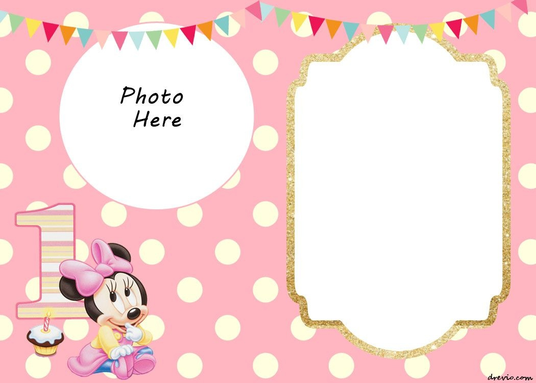 Free Printable Minnie Mouse 1St Invitation | Rebekah-Ann | Minnie - Free Printable Polka Dot Birthday Party Invitations