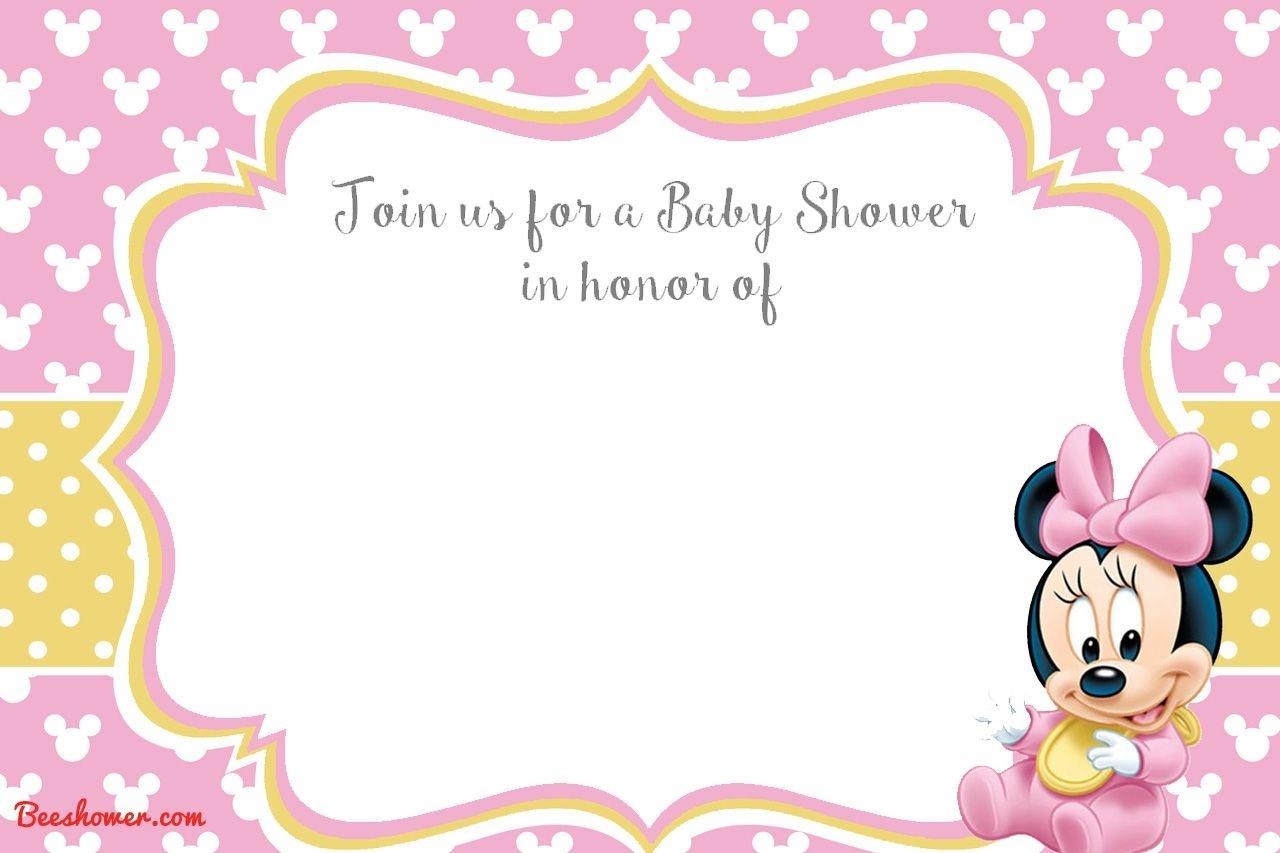 Free Printable Minnie Mouse 1St Invitation | Talli | Baby Shower - Free Printable Baby Mickey Mouse Birthday Invitations