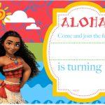 Free Printable Moana Birthday Invitation And Party | Free   Free Printable Moana Invitations