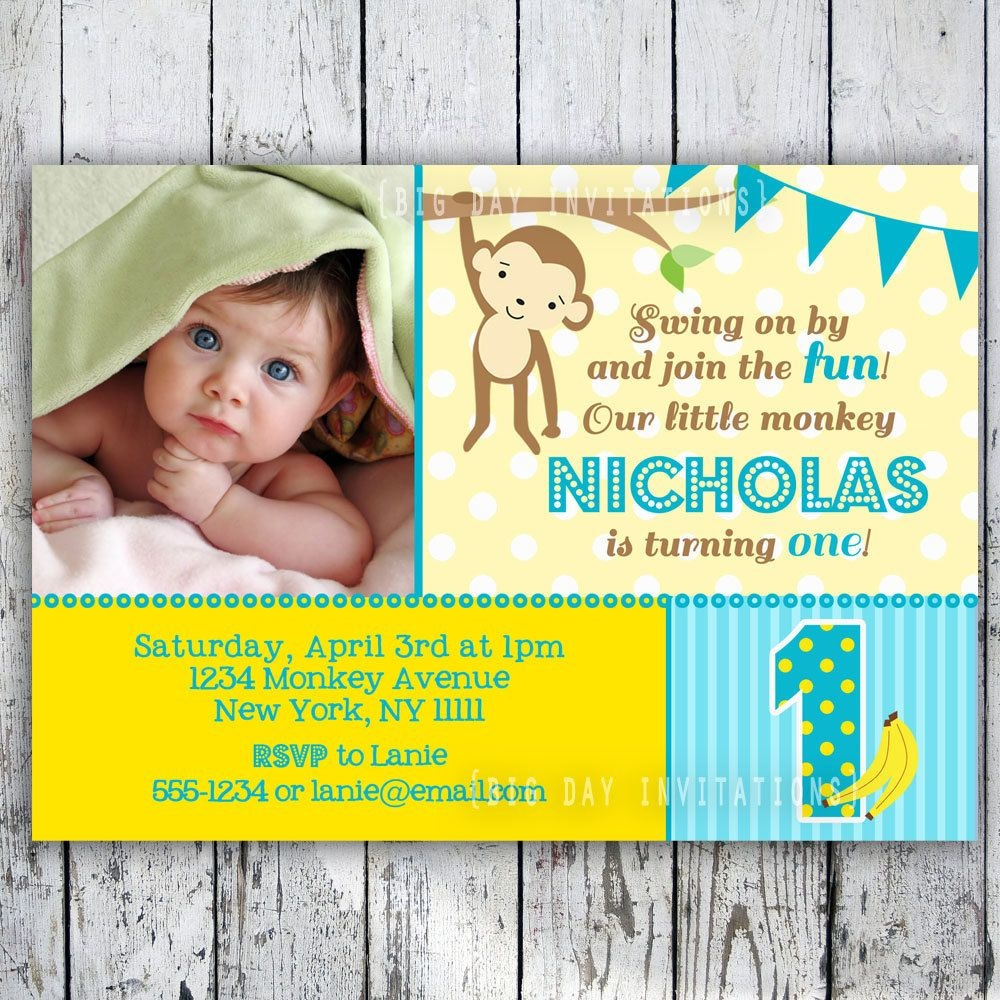 Free Printable Monkey Birthday Party Invitations | Monkey Party - Free Printable Monkey Birthday Party Invitations
