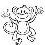 Free Printable Monkey Coloring Page | Cj 1St Birthday | Monkey   Free Printable Monkey Coloring Sheets