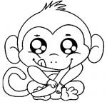 Free Printable Monkey Coloring Pages For Kids | Coloring Pages   Free Printable Monkey Coloring Sheets