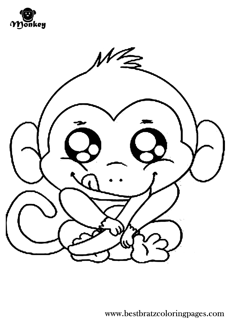 Free Printable Monkey Coloring Pages For Kids   Coloring Pages - Free Printable Monkey Coloring Sheets