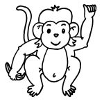 Free Printable Monkey Coloring Pages For Kids   Free Printable Monkey Coloring Sheets