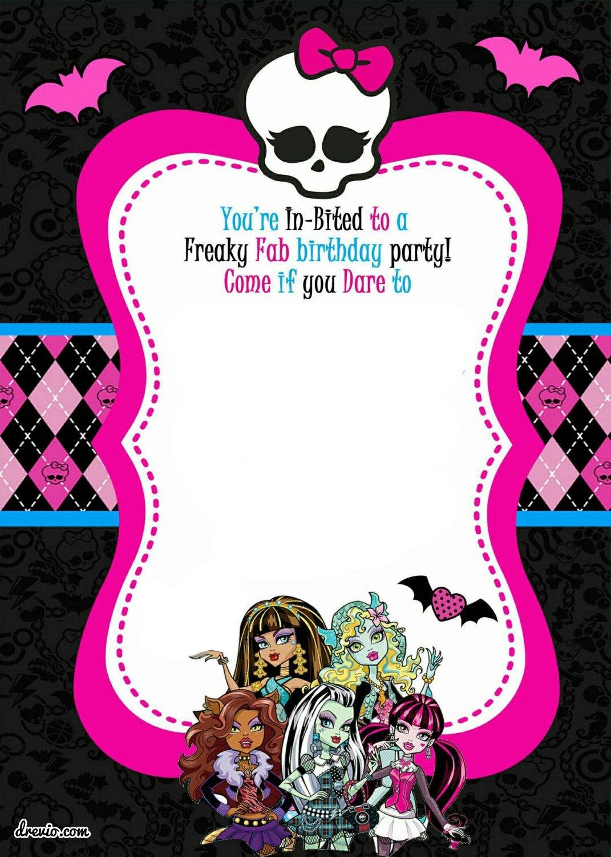 Free Printable Monster High Birthday Invitations   Monster High - Monster High Cupcake Toppers Printable Free