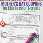 Free Printable Mothers Day Coupons For Kids To Color And Create   Free Printable Personalized Children's Books