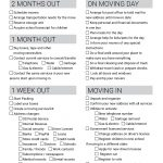 Free Printable Moving Checklist | Personalized Moving Cards   Free Printable Change Of Address Cards