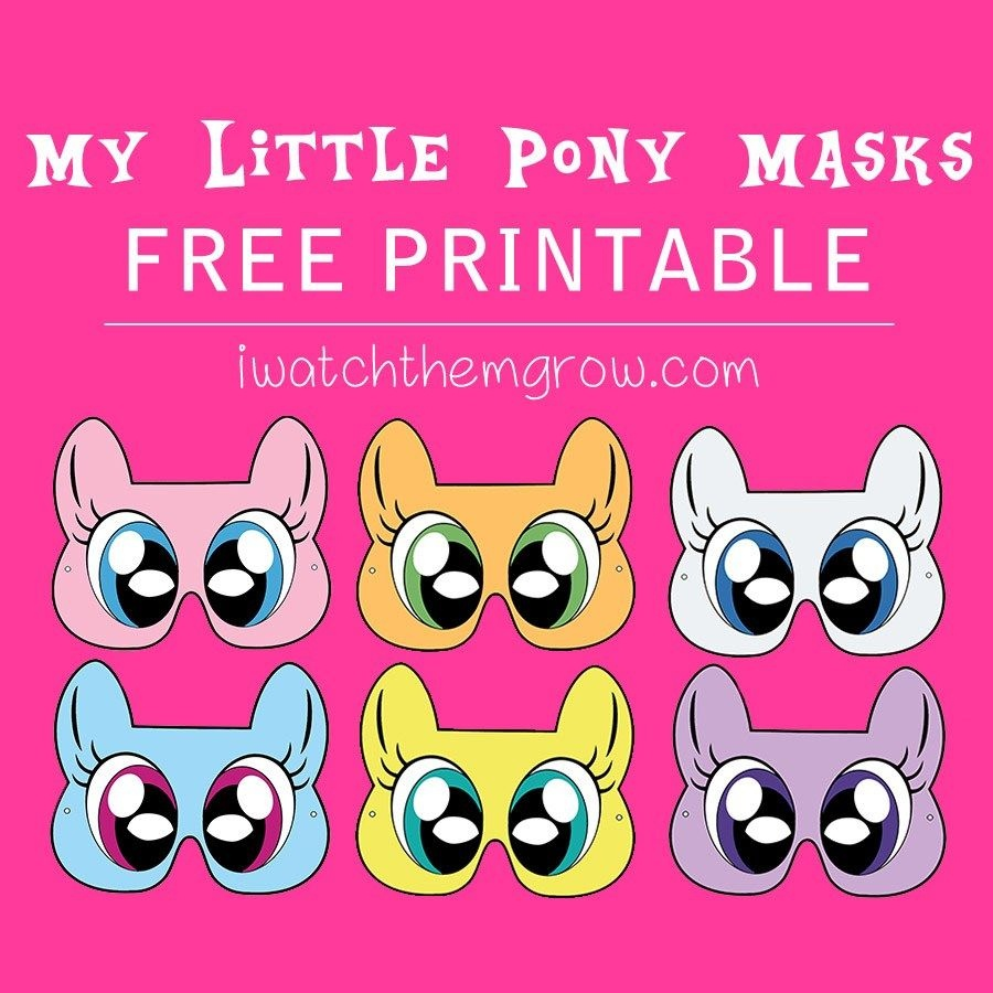Free Printable My Little Pony Masks | Birthdays, Etc. | Pinterest - Free My Little Pony Printable Masks