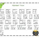Free Printable Name Tracing Worksheets Free Kindergarten Capital   Free Printable Traceable Letters