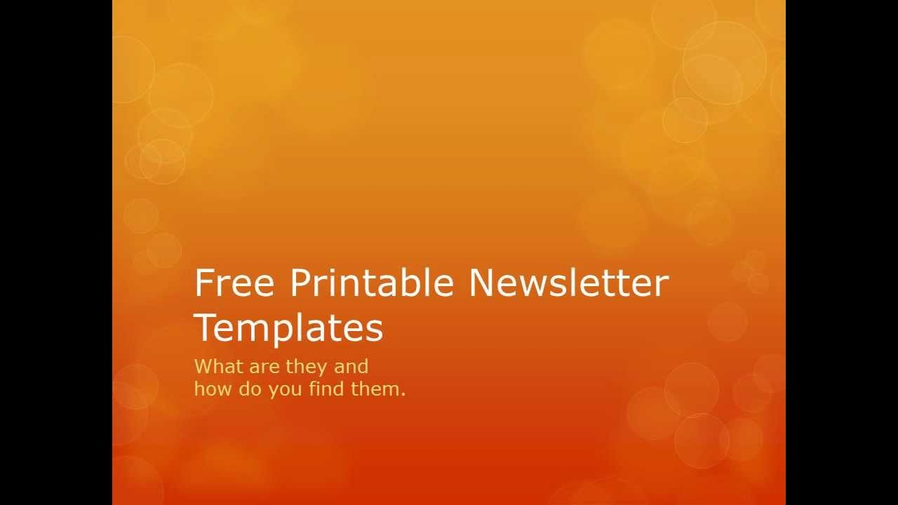 Free Printable Newsletter Templates - Searching For Free Printable - Free Printable Newsletter Templates