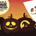 Free Printable Nightmare Before Christmas Pumpkin Carving Stencils   Free Printable Nightmare Before Christmas Pumpkin Stencils