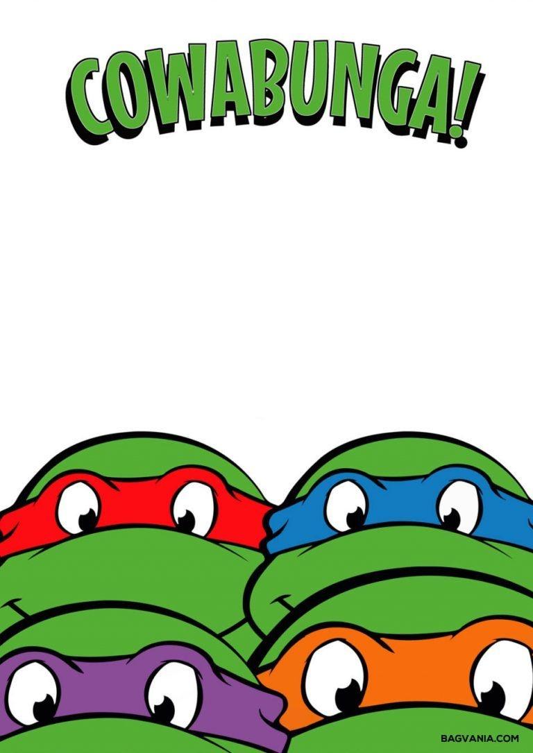 Free Printable Ninja Turtle Birthday Party Invitations – Bagvania - Free Printable Ninja Turtle Birthday Banner