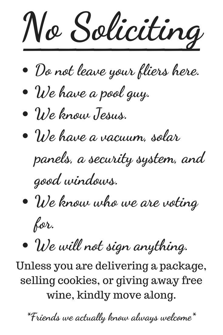 Free Printable No Soliciting Sign | Pinlikecrazy | No Soliciting - Free Printable No Soliciting Sign