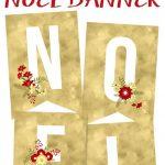 Free Printable Noel Banner | Best Of Pinterest | Christmas, Free   Free Printable Christmas Banner