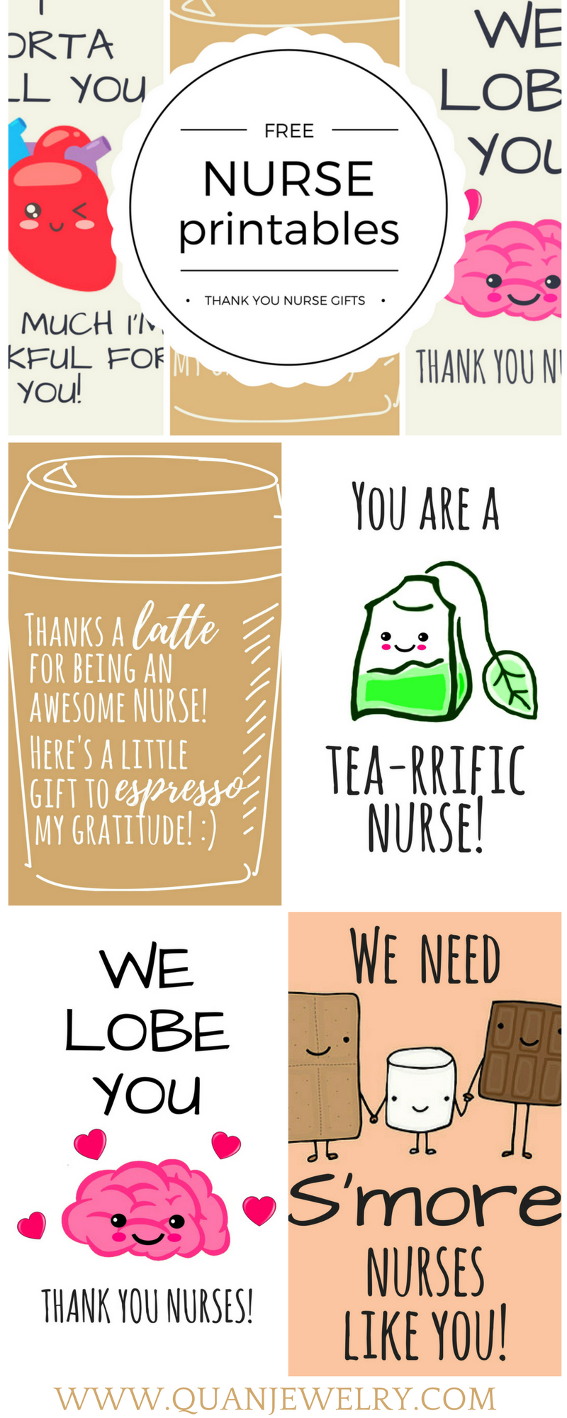 Free Printable Nurse Appreciation Thank You Cards   Gifts For Nurses - Free Printable Funny Thinking Of You Cards