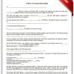 Free Printable Offer To Purchase Real Estate Legal Forms | Free   Free Printable Real Estate Contracts