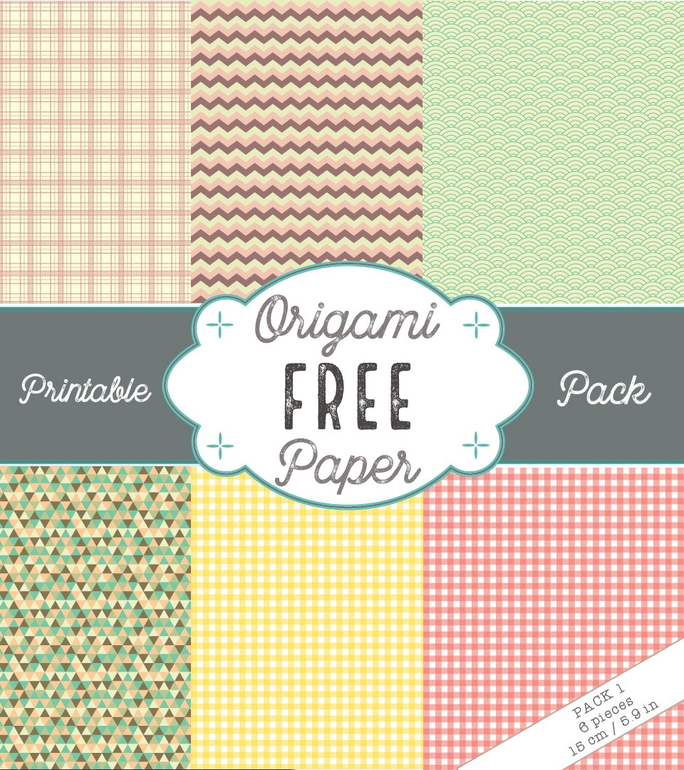 Free Printable Origami Paper Pack 1 – Origami Tutorials - Free Printable Paper