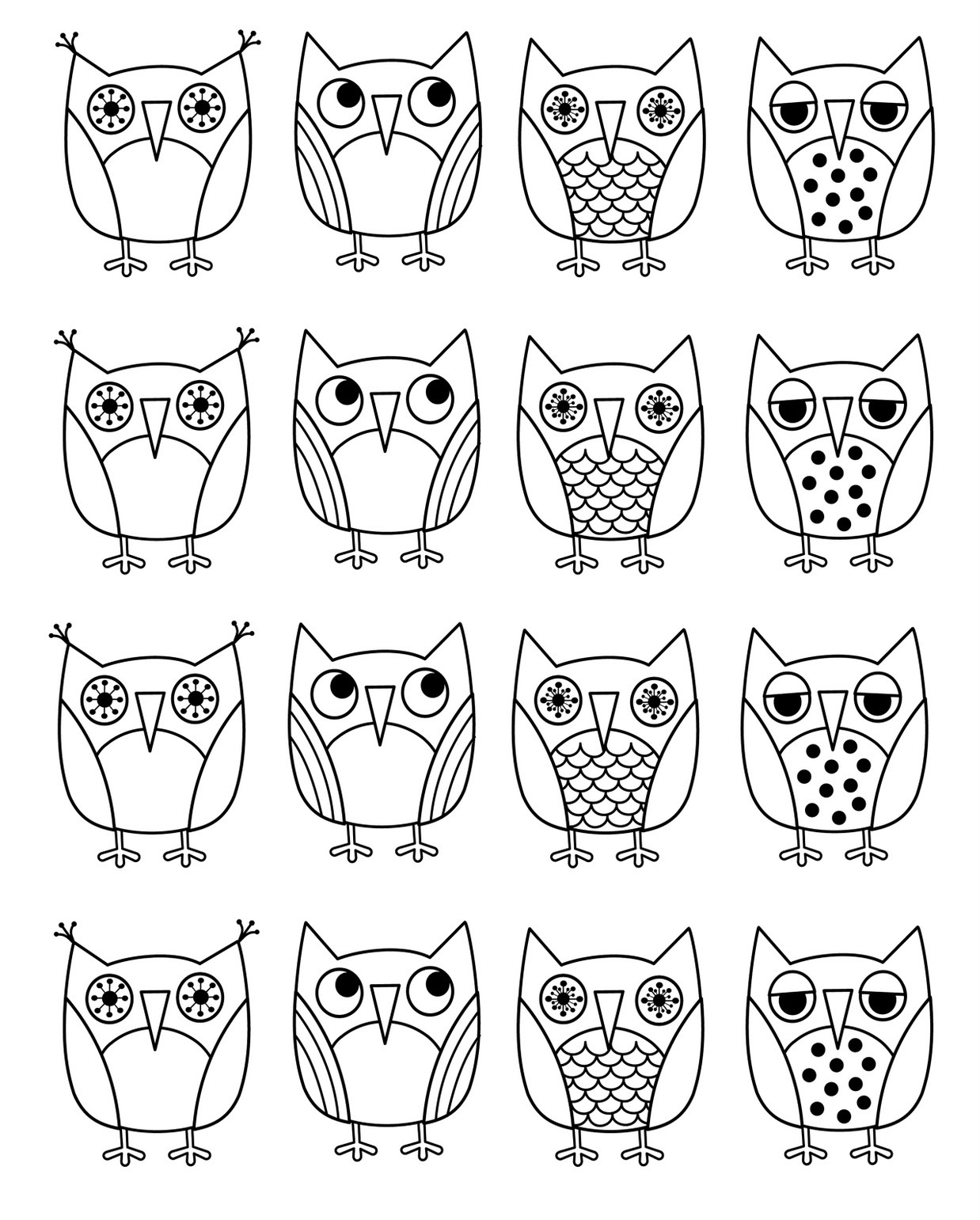 Free Printable Owl Coloring Pages For Kids - Free Printable Owl Coloring Sheets