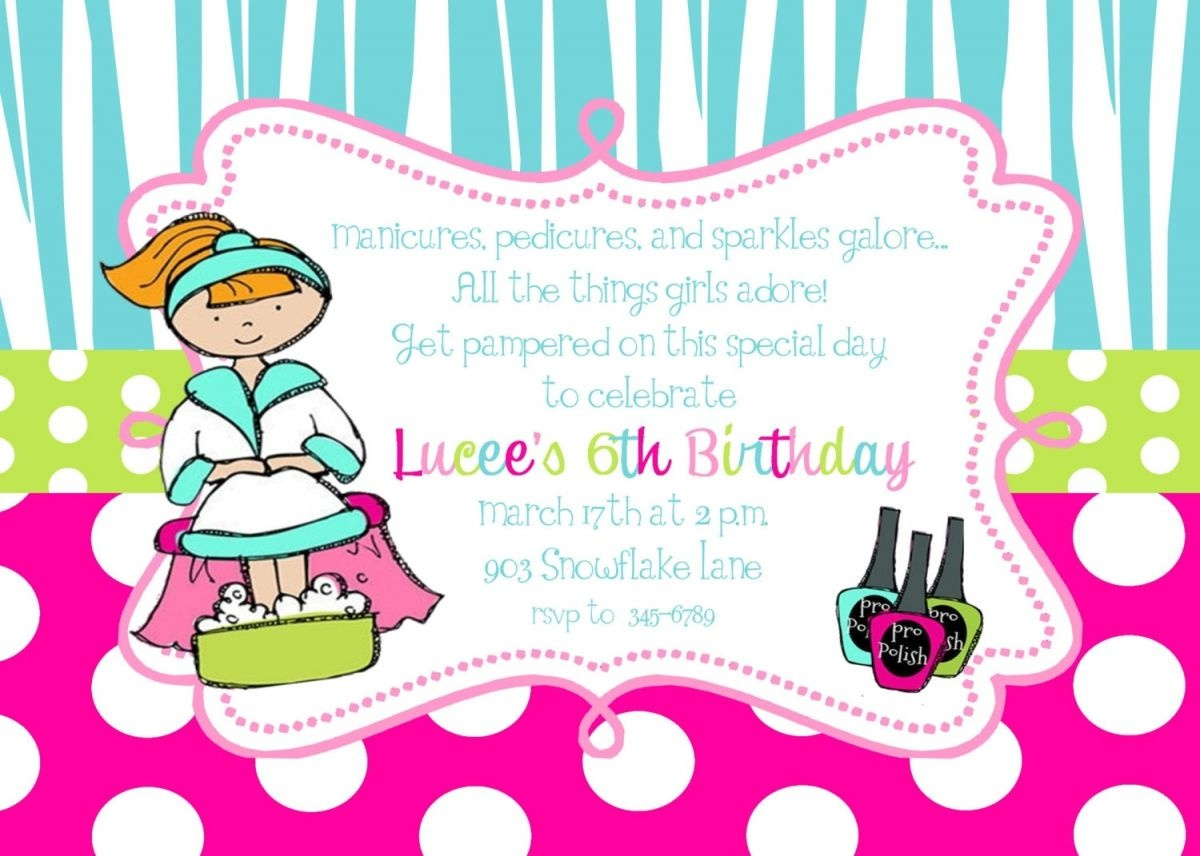 Free Printable Pamper Party Invitation Templates | Pamper Party In - American Girl Party Invitations Free Printable