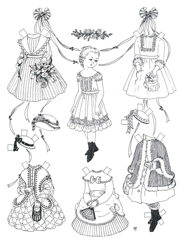 Free Printable Paper Doll Coloring Pages For Kids   Adult Coloring - Free Printable Paper Dolls