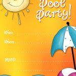 Free Printable Party Invitations: Summer Pool Party Invites | Adhd   Free Printable Pool Party Invitation Cards