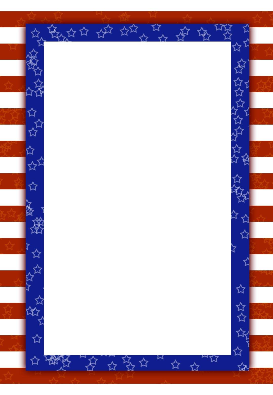 Free Printable Patriotic Invitation | 4Th Of July | 4Th Of July - Free Printable 4Th Of July Stationery