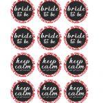 Free Printable Pdf // Bridal Shower Cupcake Toppers, Red Damask   Free Printable Cupcake Toppers Bridal Shower