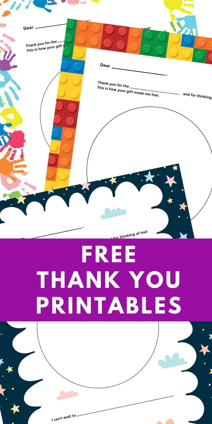 Free Printable Personalized Thank You Cards - Homemade Thank You - Free Personalized Thank You Cards Printable