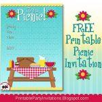 Free Printable Picnic Invitation | Parties | Picnic Invitations   Free Printable Cookout Invitations