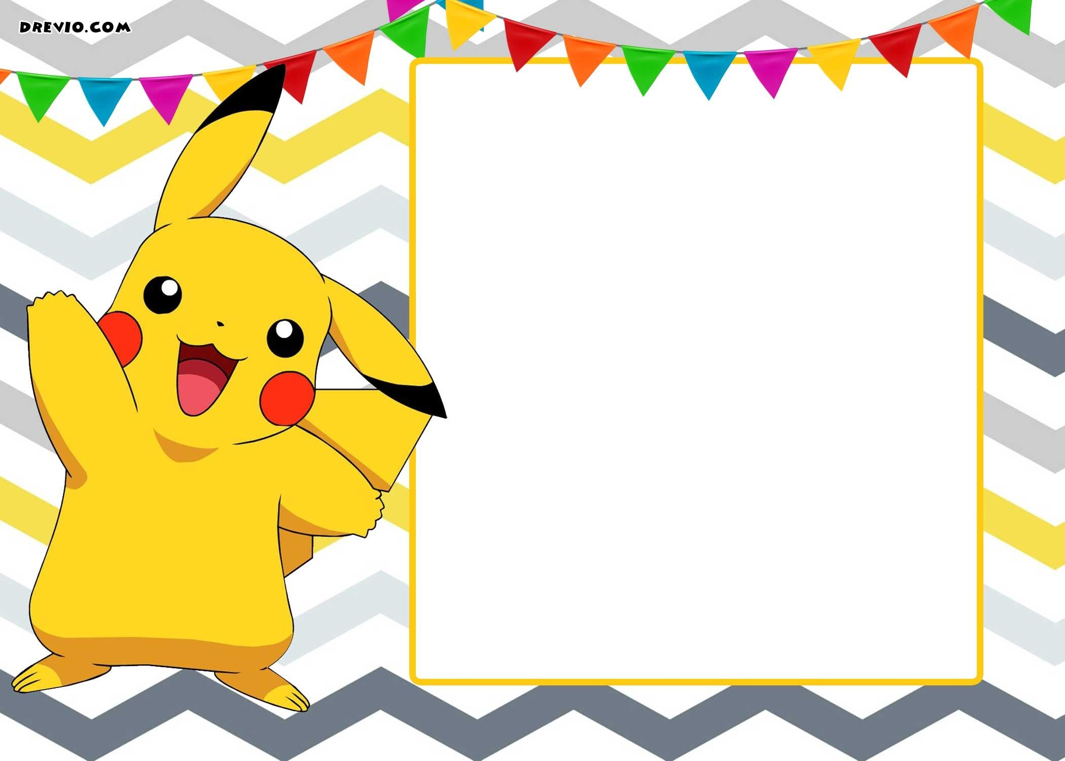 Free Printable Pokemon Invitation Templates | Birthday Party - Pokemon Invitations Printable Free