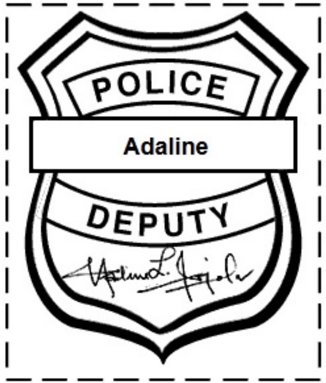Free Printable Police Badge Template Clipart - Clipartix - Free Printable Badges