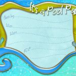 Free Printable Pool Party Invitation Template From   Free Printable Pool Party Invitation Cards