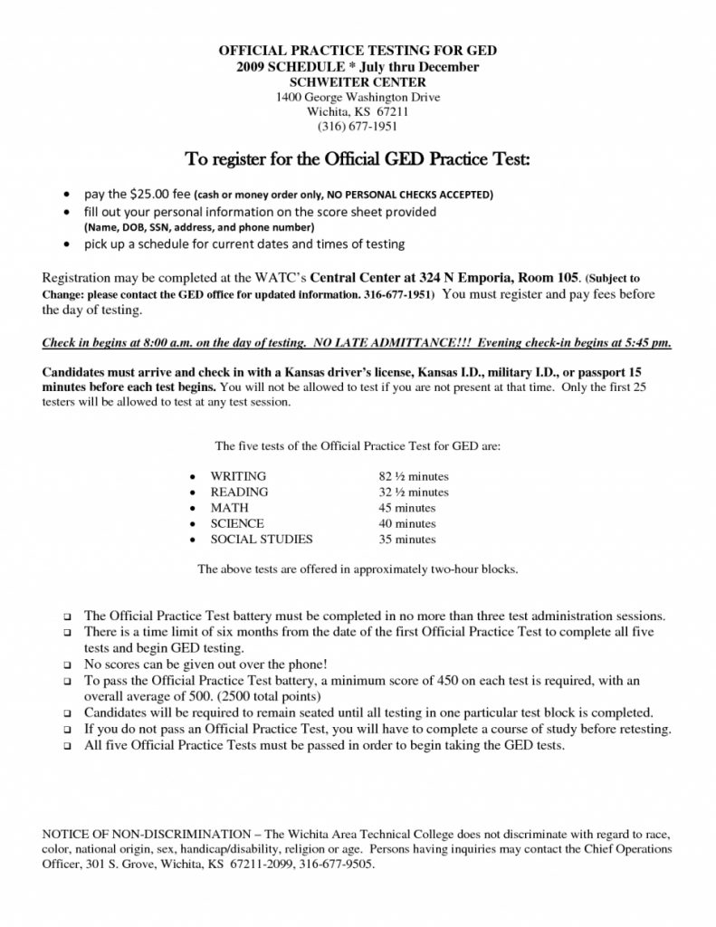 Free Printable Practice Ged Test Questions | Download Them Or Print - Free Printable Ged Practice Test