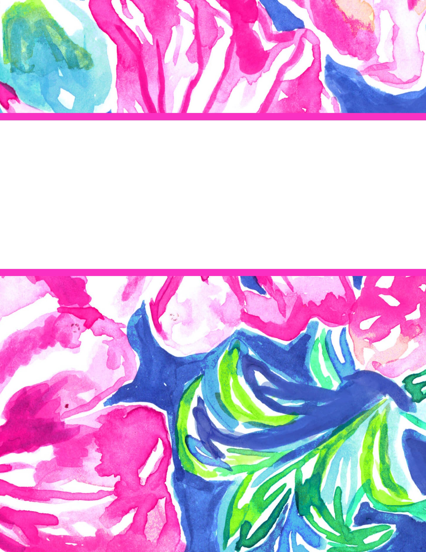 Free Printable Preppy Lilly Pulitzer Binder Covers - Free Printable School Binder Covers