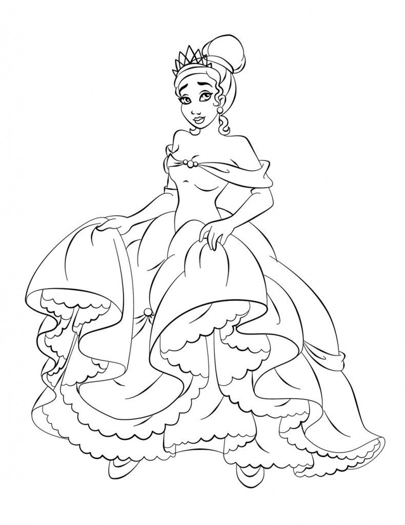 Free Printable Princess Tiana Coloring Pages For Kids | Coloring - Free Printable Princess Coloring Pages