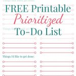 Free Printable Prioritized To Do List | Best Of Laurasueshaw   Free Printable To Do Lists To Get Organized