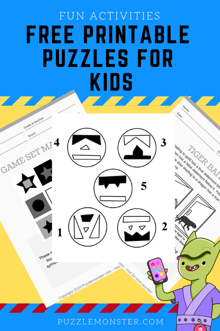 Free Printable Puzzles For Kids - Logic Puzzles And Brain Games - Free Printable Puzzles For Kids