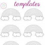 Free Printable Rainbow Templates – Large, Medium & Small Patterns   Free Printable Crafts